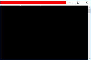 コマンドプロンプト画面表示