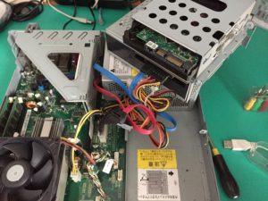 パソコンサポート内蔵HDD交換1