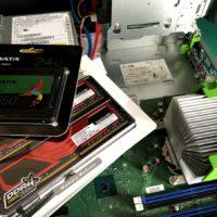 D588BWメモリ増設SSD交換